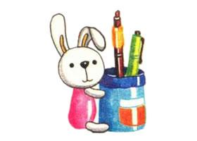 笔筒色铅笔简笔画画法步骤