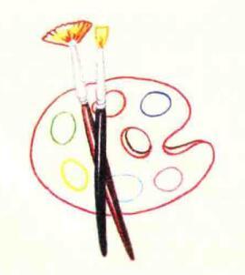 调色盘色铅笔简笔画画法步骤04