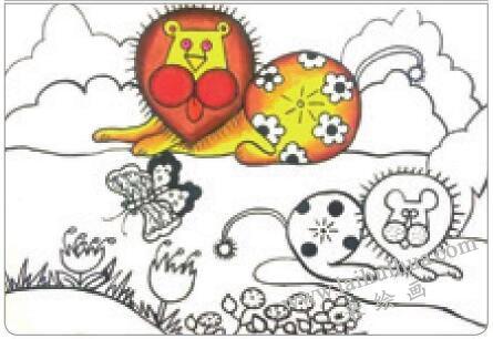 狮子王油棒画画法步骤02