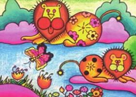 狮子王油棒画画法步骤