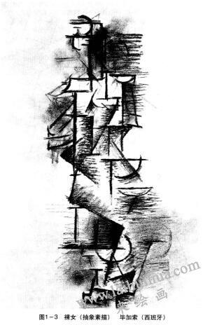 裸女(抽象素描),毕加索