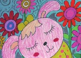 小兔乖乖油棒画画法步骤