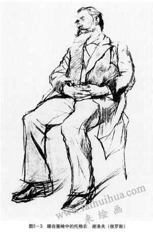 睡在圈椅中的托格农,谢洛夫