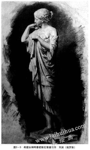 希腊女神阿泰密斯石膏像习作