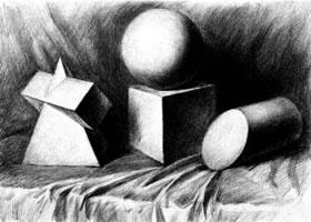 石膏几何体的写生步骤