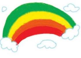 鲜艳的彩虹油棒画画法步骤