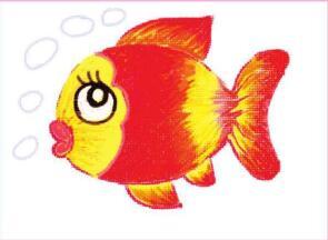 自在的鱼儿油棒画画法步骤02