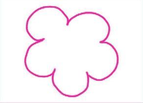 五颜六色的小花儿油棒画画法步骤02