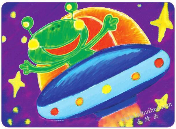 可爱的外星人油棒画