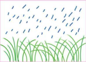雨中的小草油棒画画法步骤02