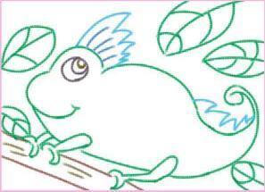 神奇的变色龙油棒画画法步骤01