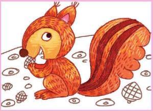 活泼的小松鼠油棒画画法步骤03