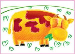 快活的小牛油棒画画法步骤03