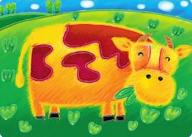 快活的小牛油棒画画法步骤
