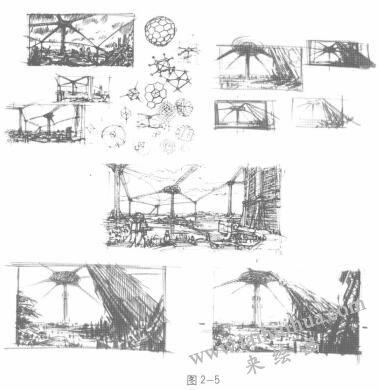 动画素描的空间