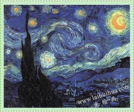 油画的特点:阿尔的星空