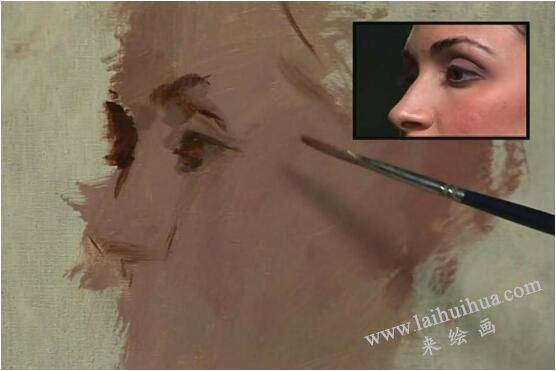 人物油画的作画步骤二