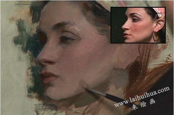 人物油画的作画步骤七