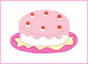 诱人的蛋糕油棒画画法步骤02