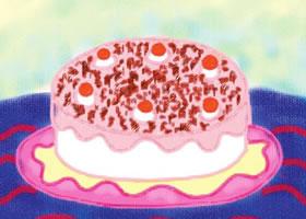 诱人的蛋糕油棒画画法步骤