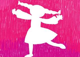 跳舞的小女孩油棒画画法步骤