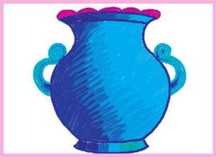 亮丽的花瓶油棒画画法步骤02