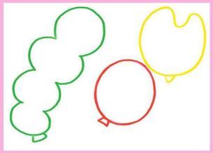 天上的气球油棒画画法步骤01