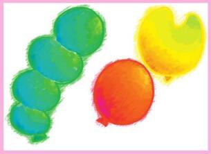 天上的气球油棒画画法步骤02