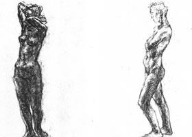 人物肖像素描画法范例(二)