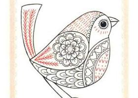 知更鸟简笔画法步骤