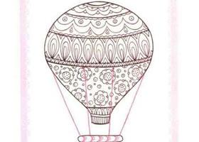 热气球简笔画法步骤