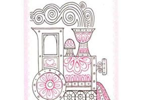 蒸汽火车简笔画法步骤