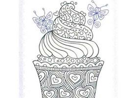 纸杯蛋糕简笔画法步骤