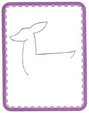 驯鹿简笔画法步骤01