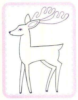 驯鹿简笔画法步骤04