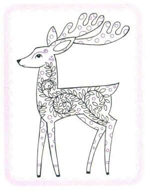 驯鹿简笔画法步骤06