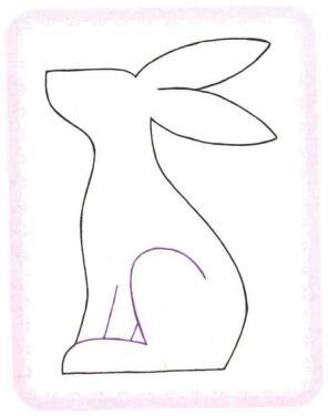 兔子简笔画法步骤02