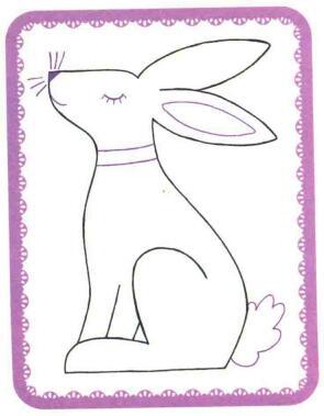 兔子简笔画法步骤03