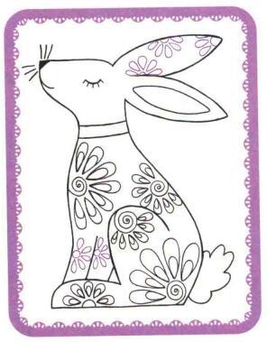 兔子简笔画法步骤05