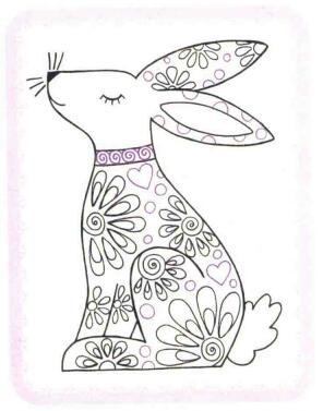 兔子简笔画法步骤06