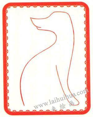 斑点狗简笔画法步骤01