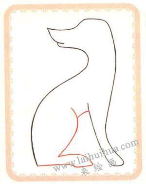 斑点狗简笔画法步骤02