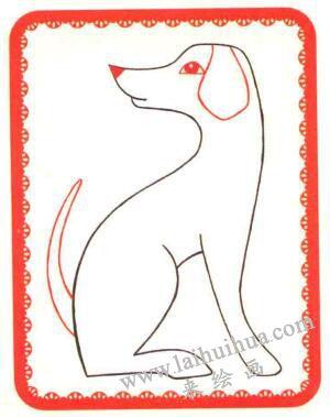 斑点狗简笔画法步骤03