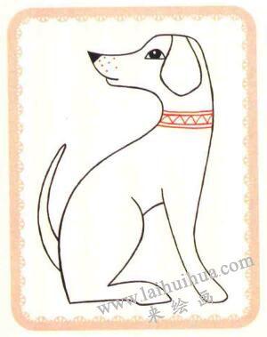 斑点狗简笔画法步骤04