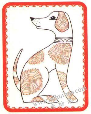 斑点狗简笔画法步骤05