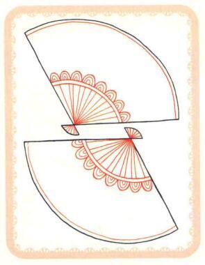 扇子简笔画法步骤02