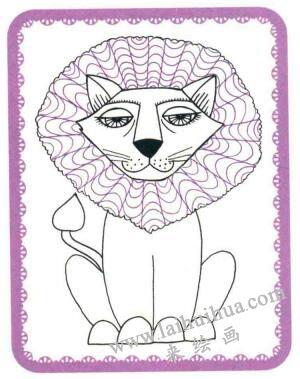 狮子简笔画法步骤05