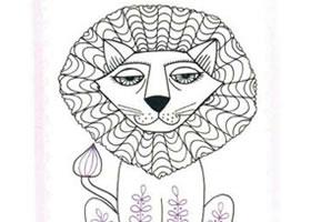 狮子简笔画法步骤(二)