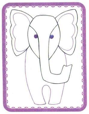 大象简笔画法步骤03