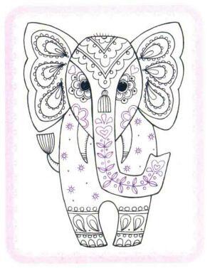 大象简笔画法步骤06
